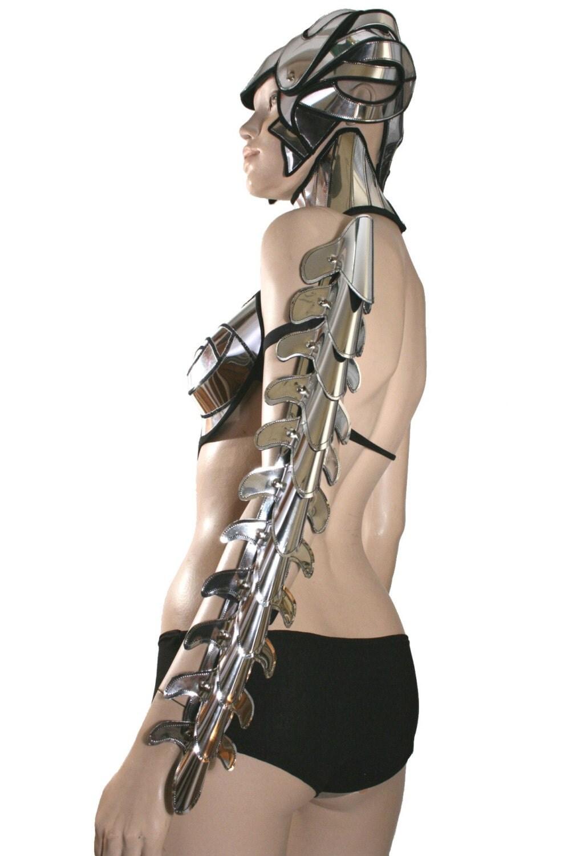 futuristic spine bones armor sparta n shoulder armour custom made for ...