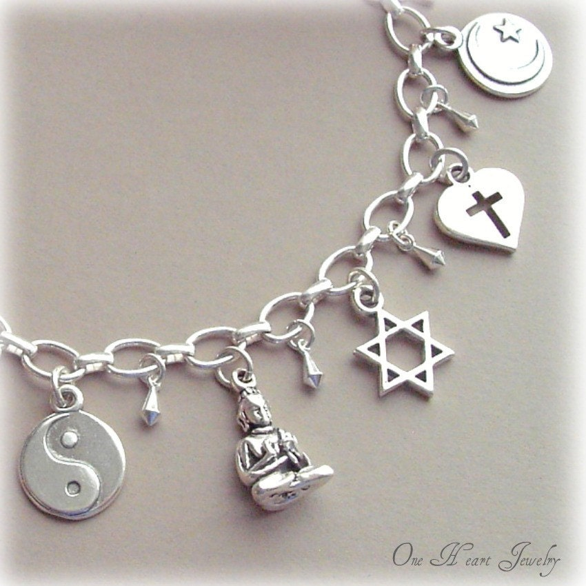 interfaith unity necklace sterling silver by