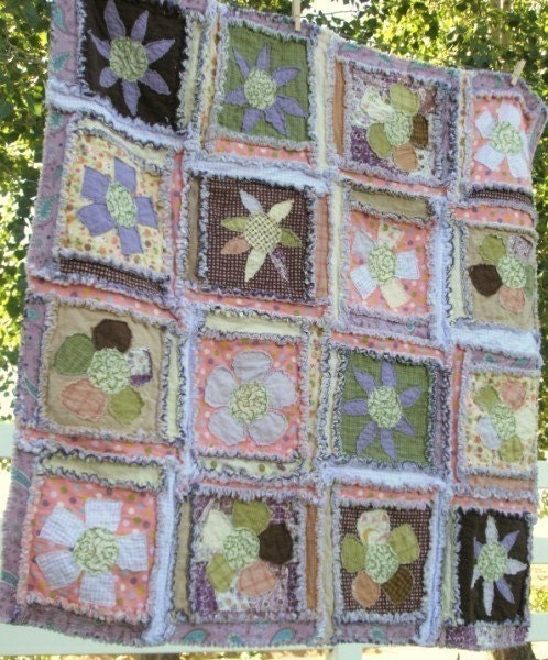 50% Off Rag Quilt PATTERN Baby Quilt Pattern by ...