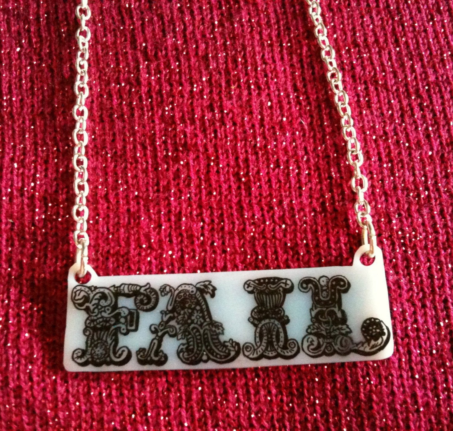 FAIL / WIN Double Sided Word Pendant