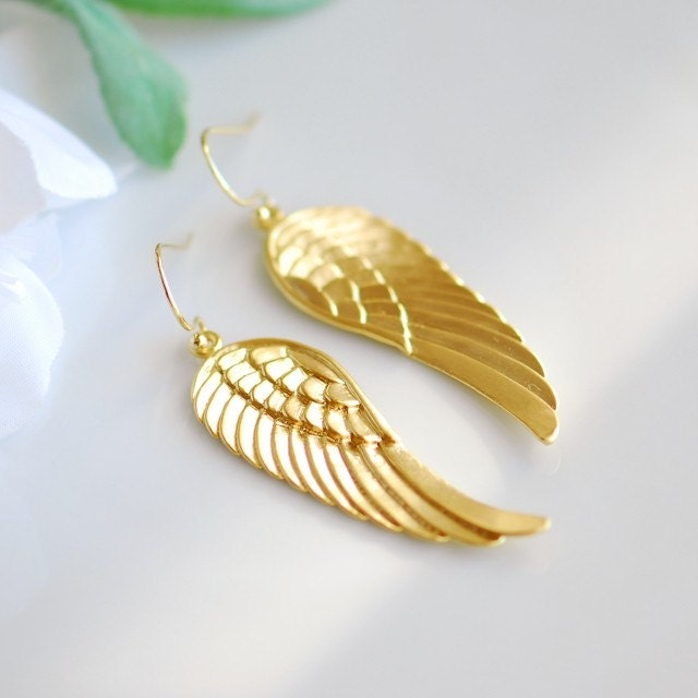 Angels wing earrings