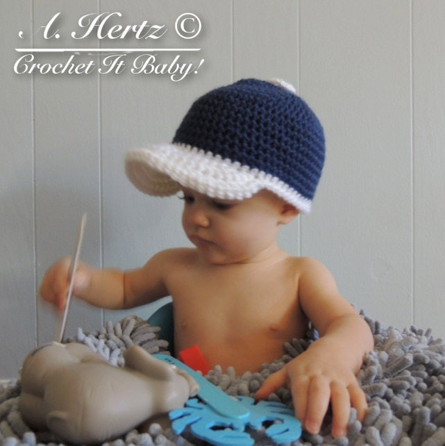 Free Crochet Pattern Newborn Baseball Cap : Popular items for baseball hat pattern on Etsy