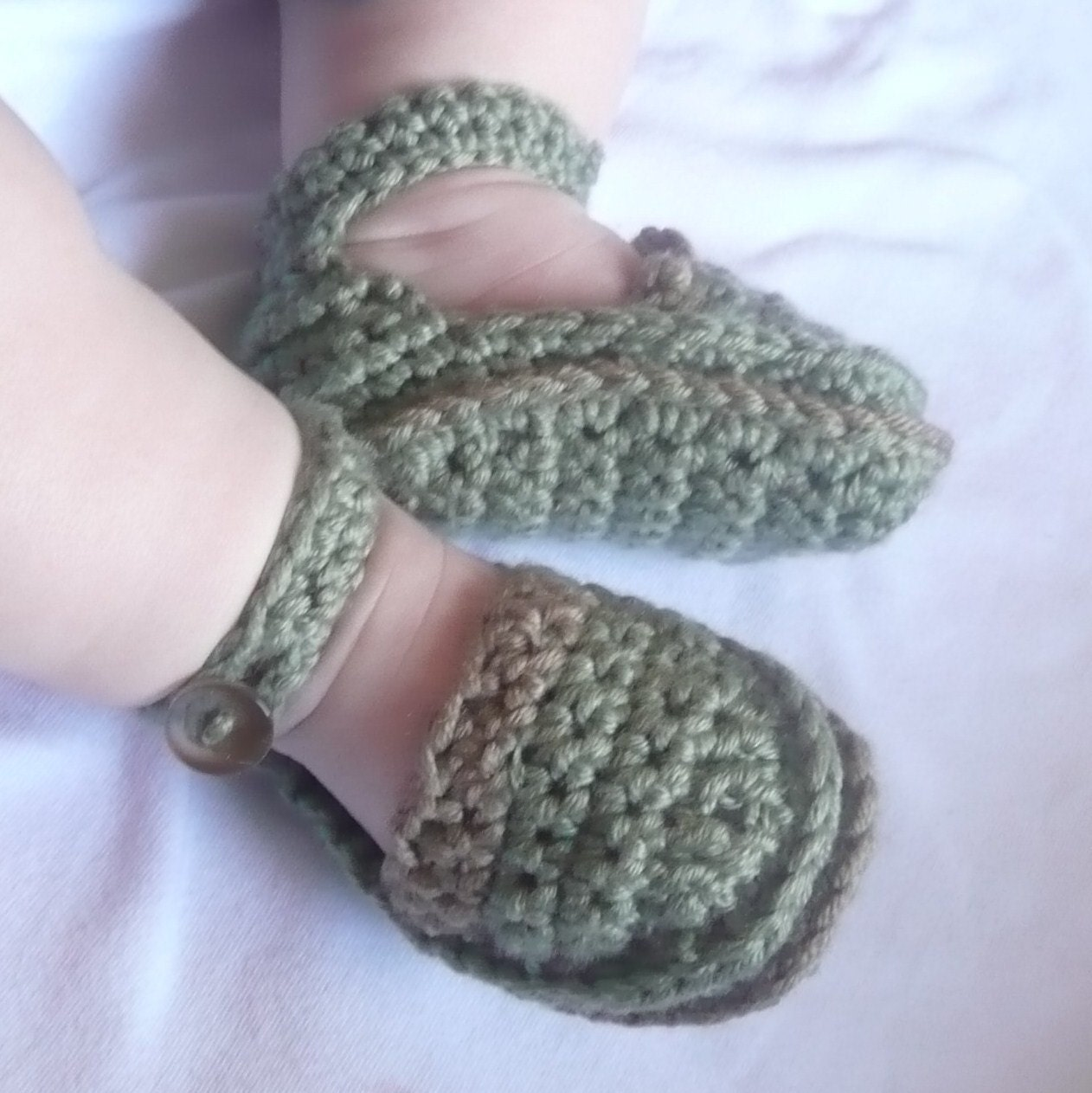 Items similar to Crochet PATTERN BABY Booties - Mini ...