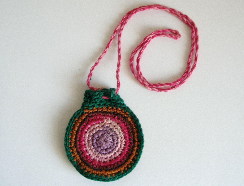 Crochet Medicine Bag Pattern : Vintage Crochet Medicine Bag Pouch by PassionFlowerVintage ...
