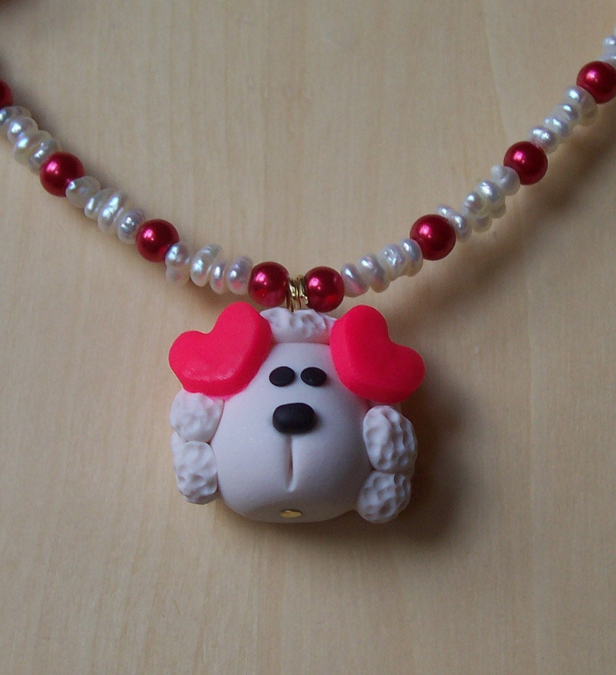 LOVING POODLE puppy necklace for girls children boutique style