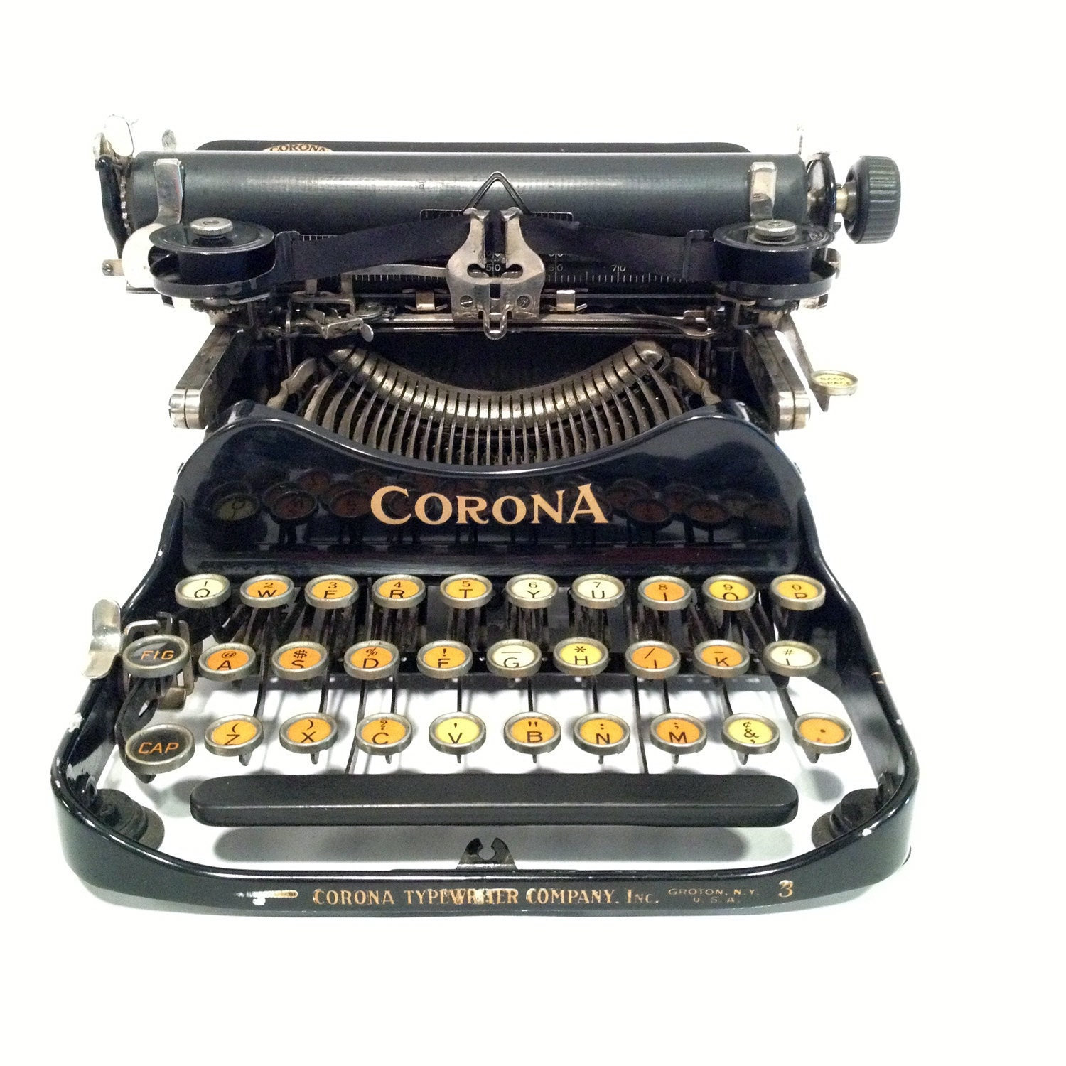 Corona 3 folding typewriter, for display / non-working - typeBtypewriters
