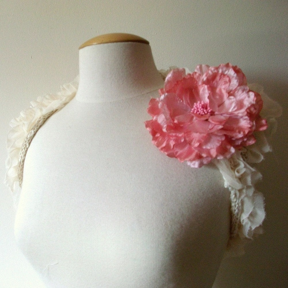 Beautiful Grace Kelly...chiffon and knit bolero made to order..