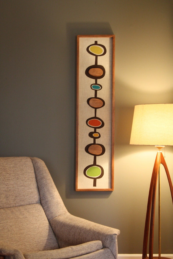 Mid century danish modern witco styled wall by - Mid century modern wall decor ...