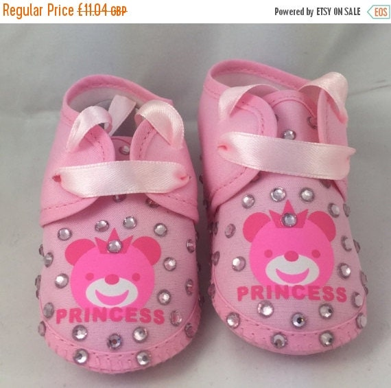 ON SALE Cotton Newborn Baby Infant Princess Embellished crib shoes Special Occasion  Pageant Wear Baby Shower Baptism Wedding