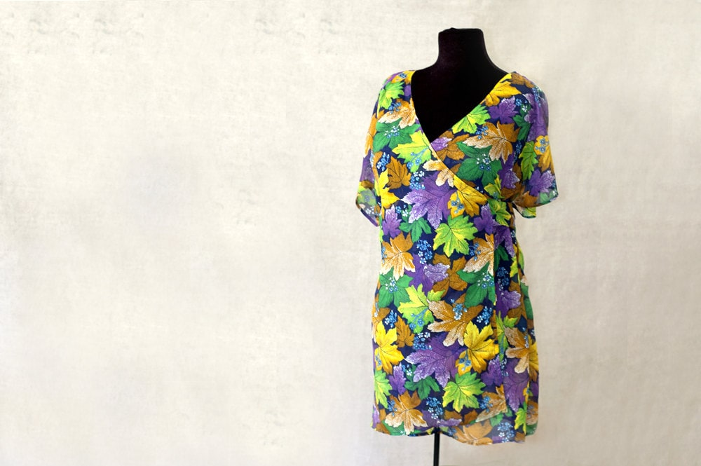 Silk Wrap Blouse, Made to Order, Uzbek Fabric, More Colors Available - MulberryWhisper
