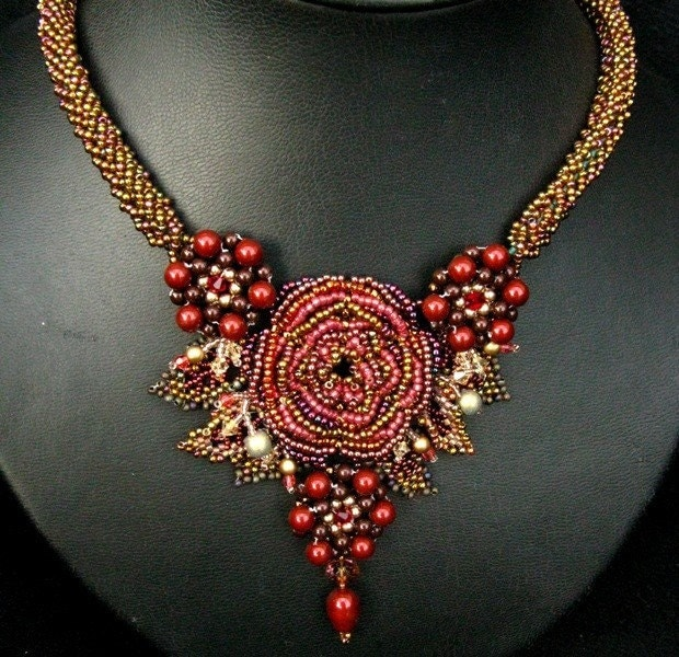 Cranberry Treasure Necklace