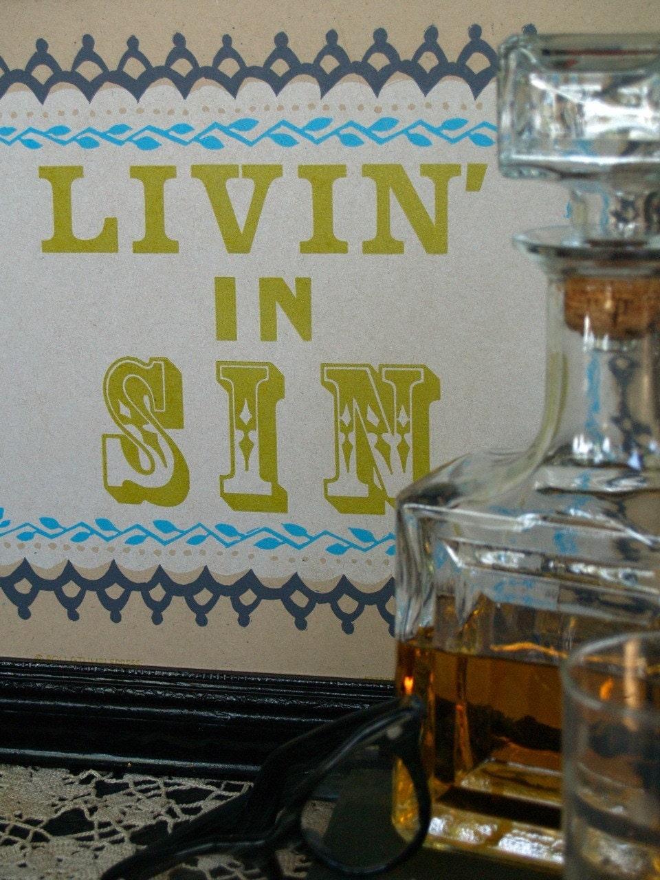 Sinner's Sampler Hand Printed Letterpress by rollandtumblepress from etsy.com