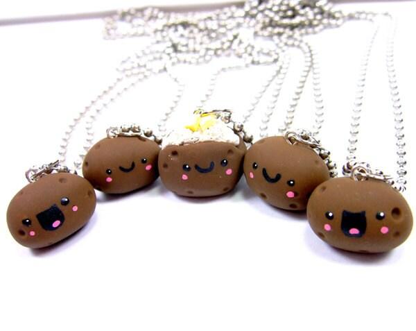 Best Friend Bff Happy Potatoes 5 Necklace Set By Thehappyacorn