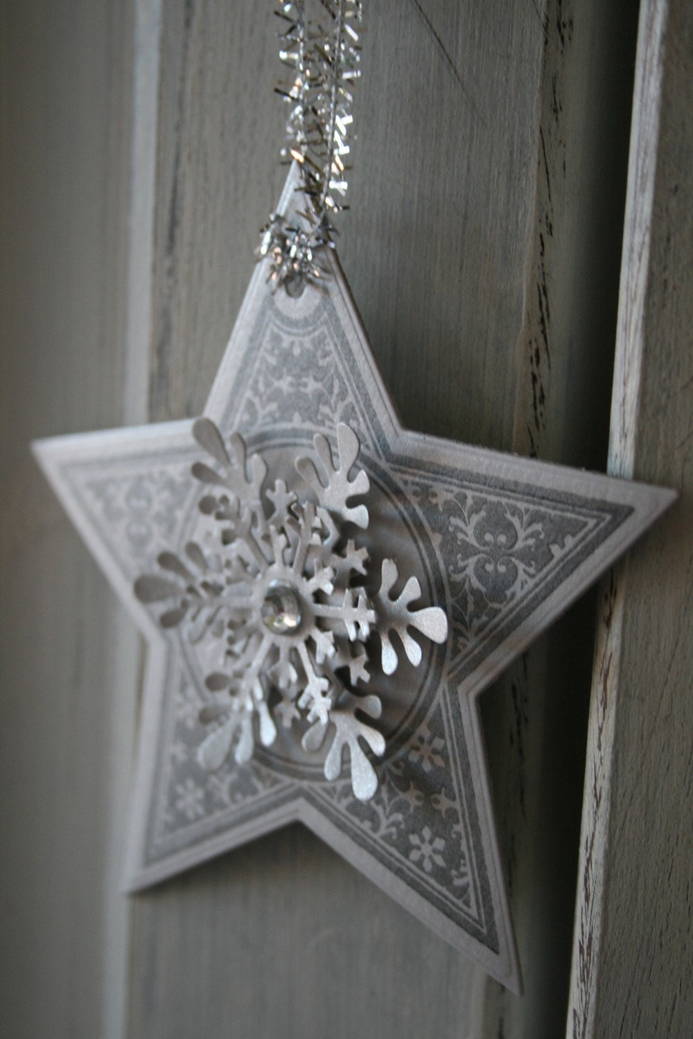 NEW - Star/ Snowflake Ornaments - Gift tags, labels - Christmas, winter, New Year - Set of 10