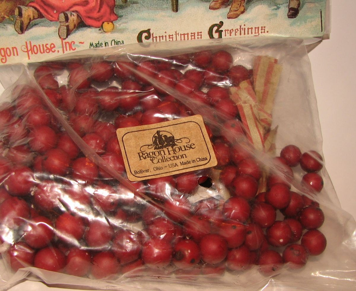 Unavailable listing on etsy for Artificial cranberries for decoration
