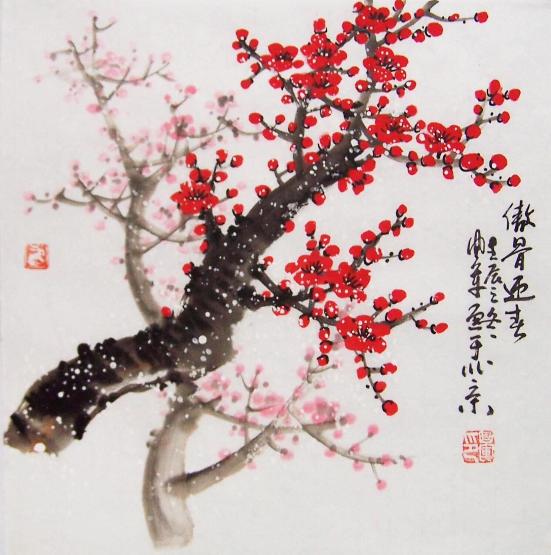 Cherry Blossom paintings Original chinese painting oriental art ...