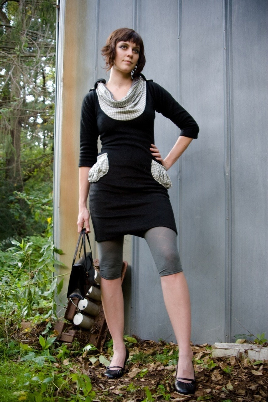 Black Fleece pocket dress
