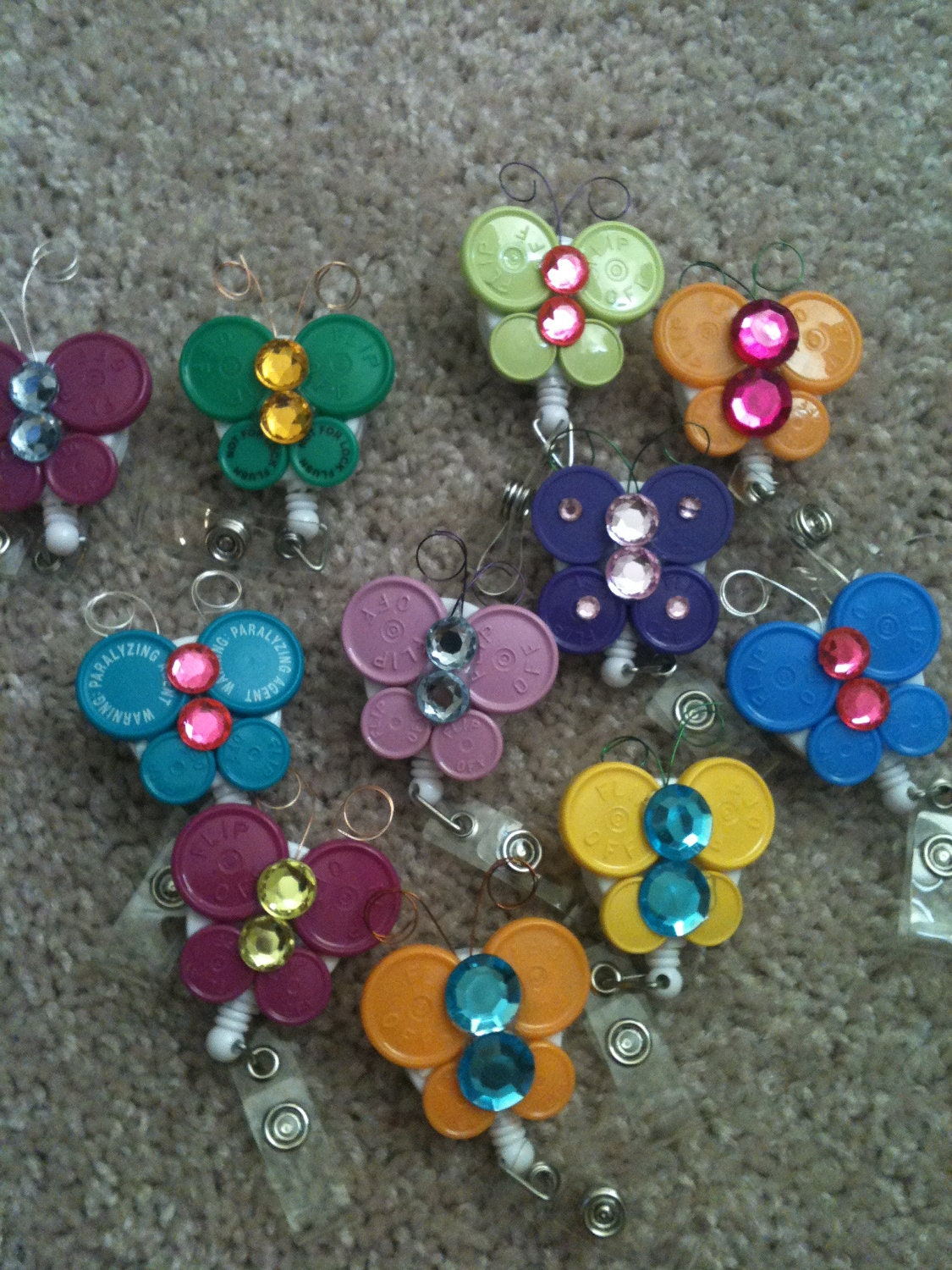 Flip cap butterfly badge holder diy pinterest for Cap crafter