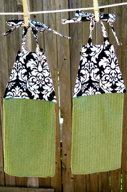 Damask Remarkable Hanging Dish Towels