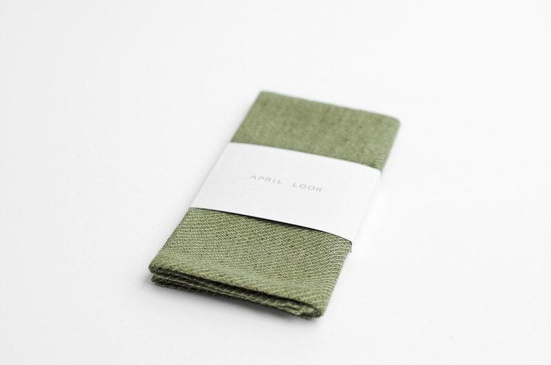 Green pocket square, olive green - APRILLOOKshop