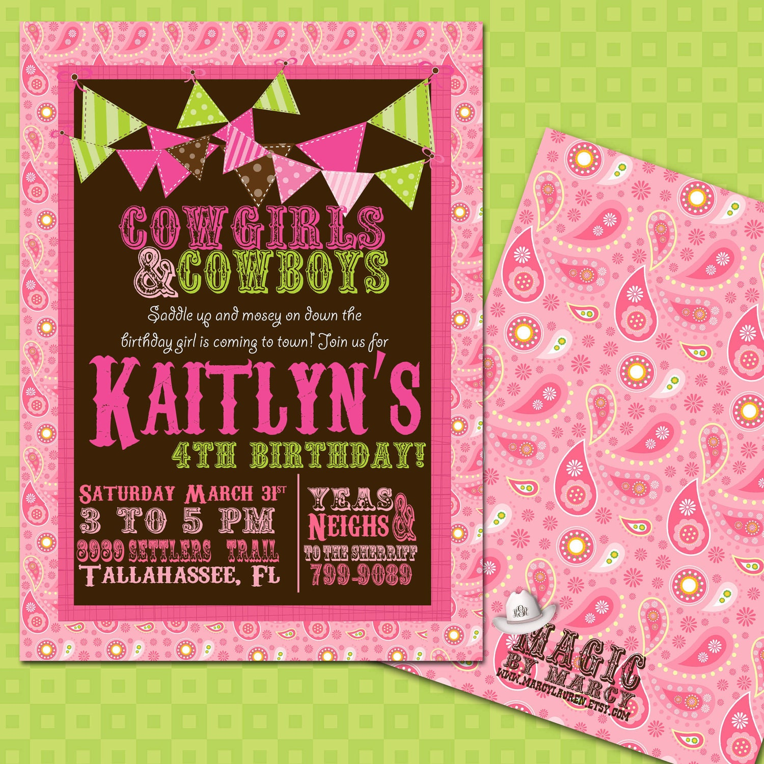 Cowgirl Party Simply Sprout – Cowgirl Party Invites
