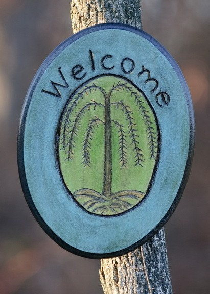 Primitive Tree of Life Welcome Sign