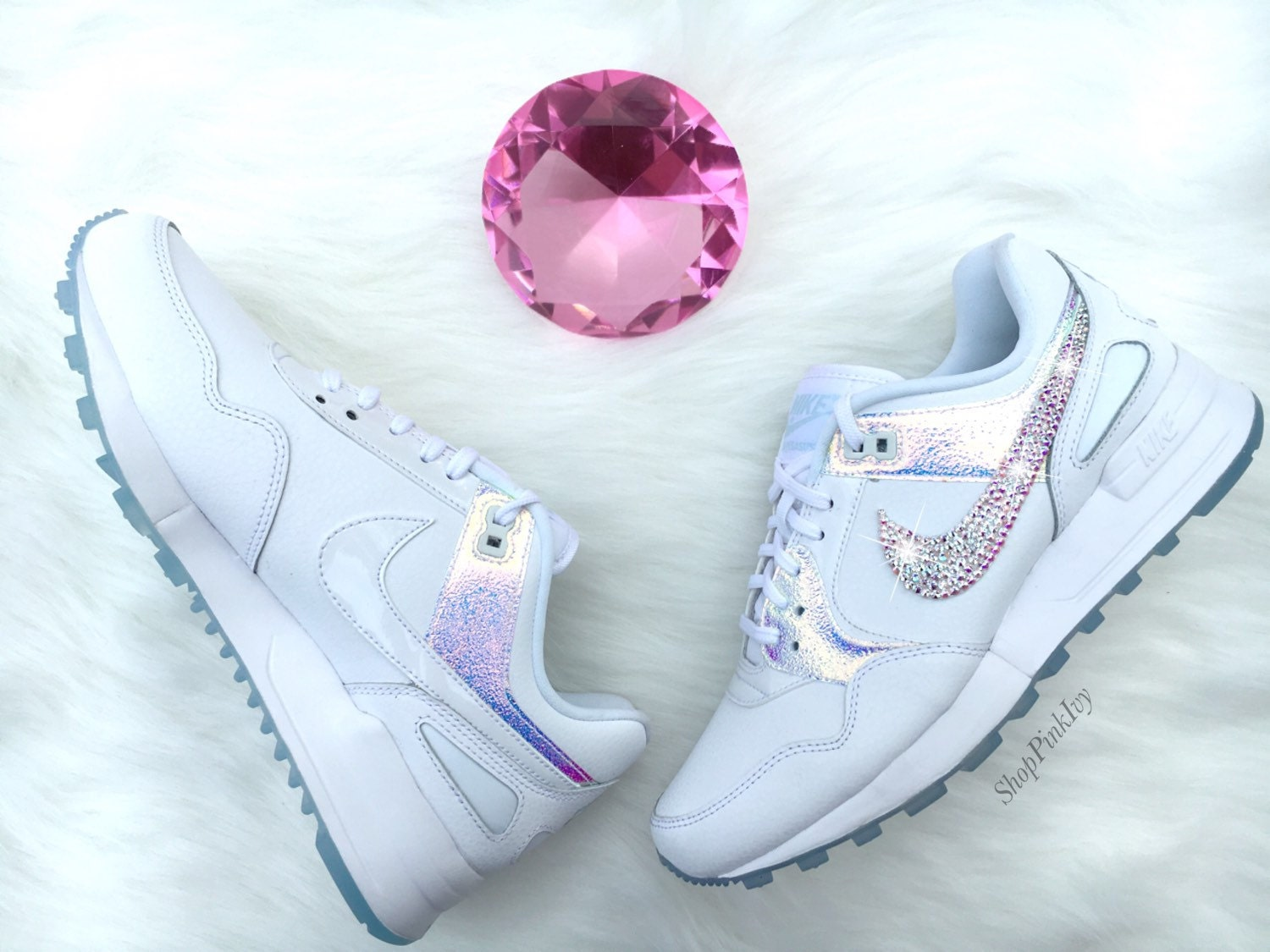 b64fbcc44209 durable service 2016 Swarovski Nike Zoom Air Pegasus 89 Customized by  ShopPinkIvy