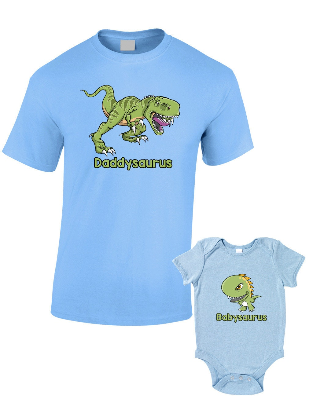 Daddysaurus and TShirts or Baby Grow  Matching Father Child Gift Set (2 shirts)  Fathers Day Present Mum Son Daughter Dad