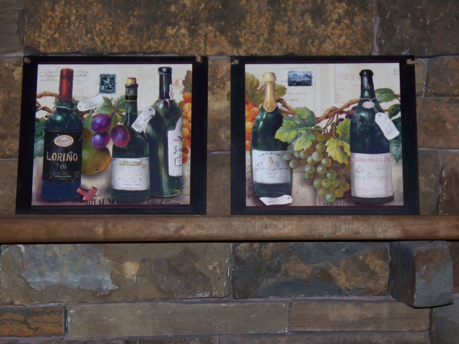 Wine Wall Decor For Kitchen : Set of wine lovers kitchen wall decor by ozarkmtnhomestead