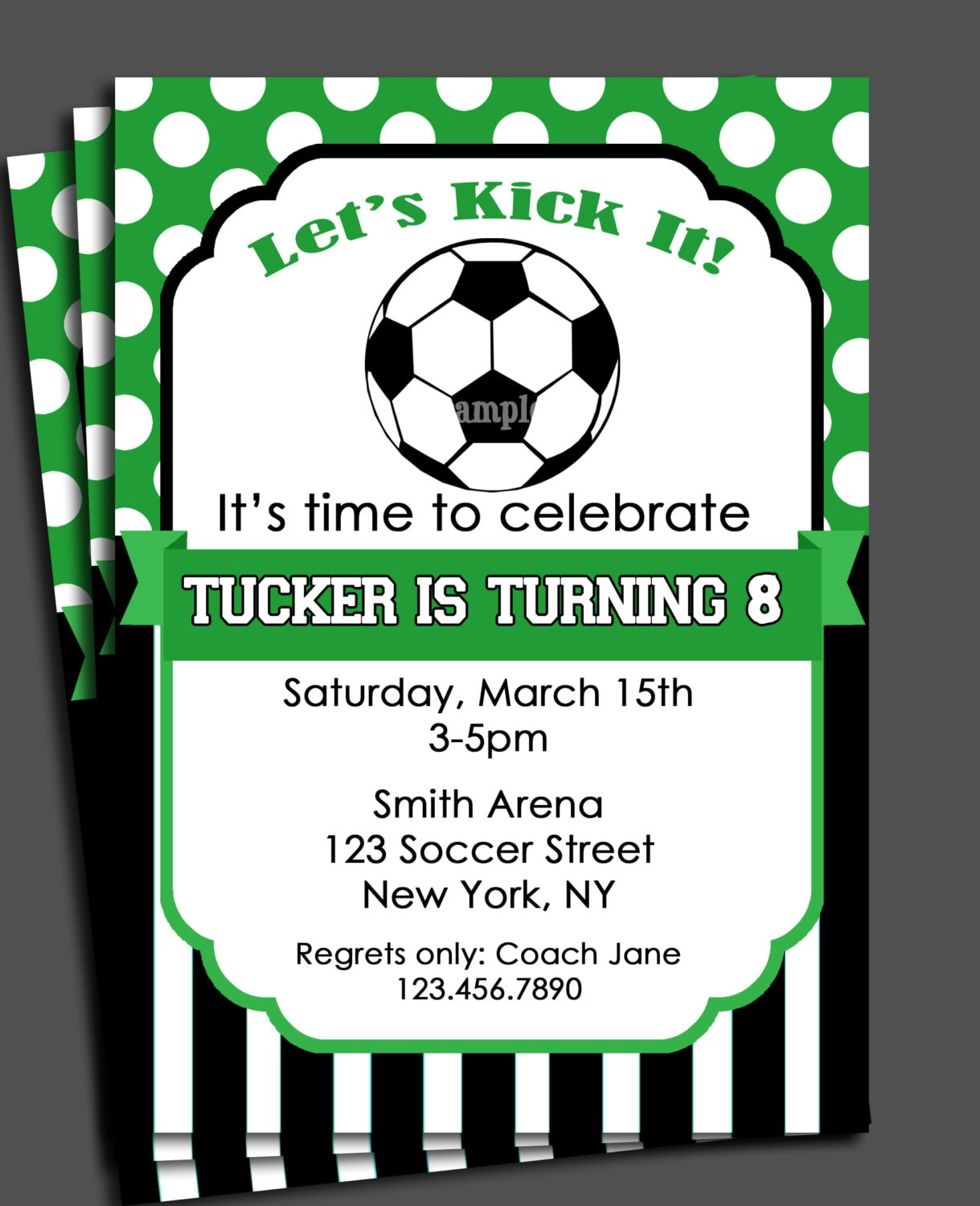 Soccer Invitation Printable - You Pick Colors - Birthday, Baby Shower ...