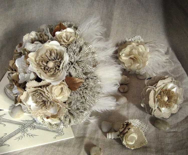 Winter Wonderland Custom Corsage (or Hairpiece)