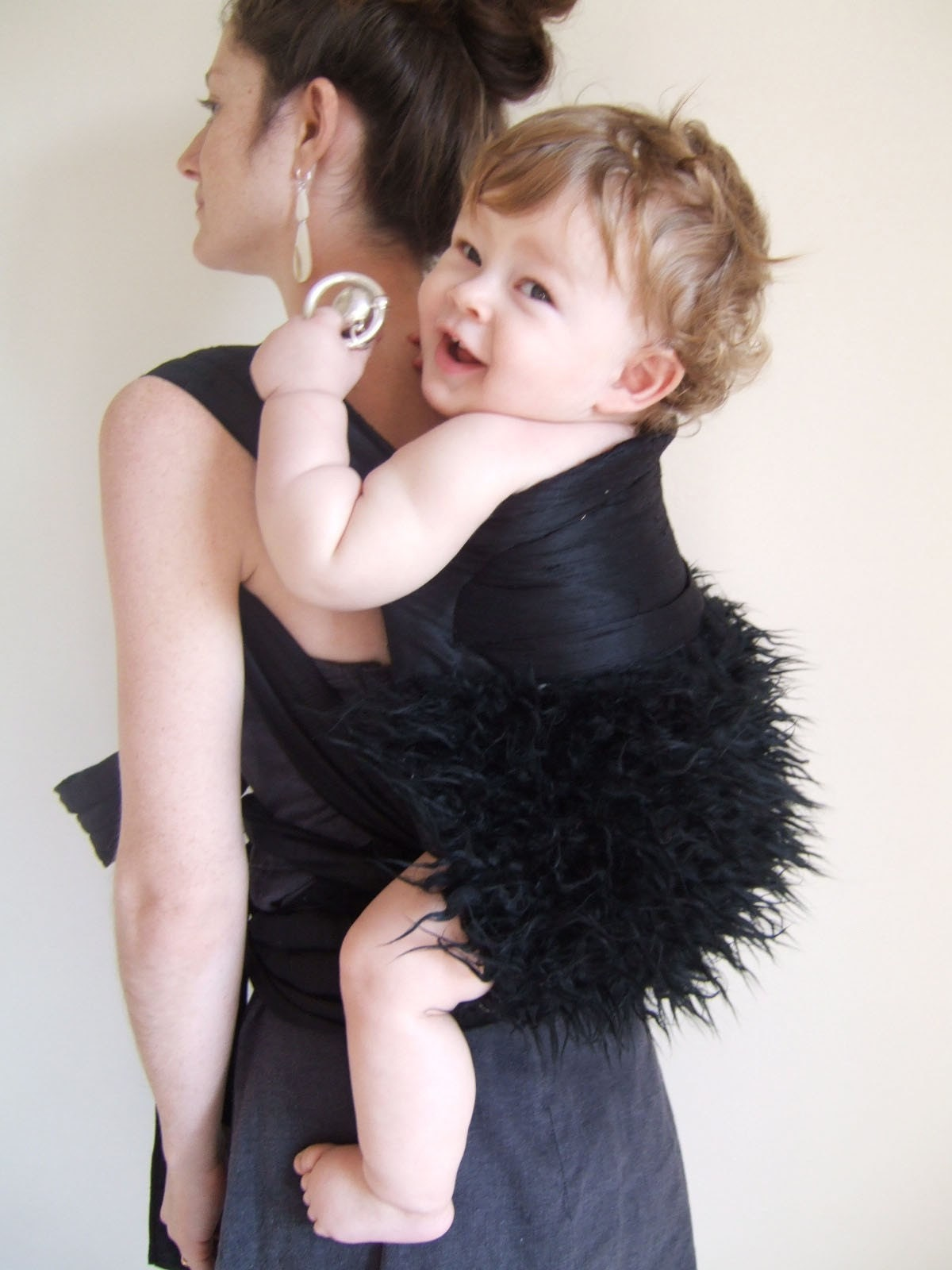 Etsy :: bronwenhandcrafted :: reversible fur/silk mei tai carrier from etsy.com
