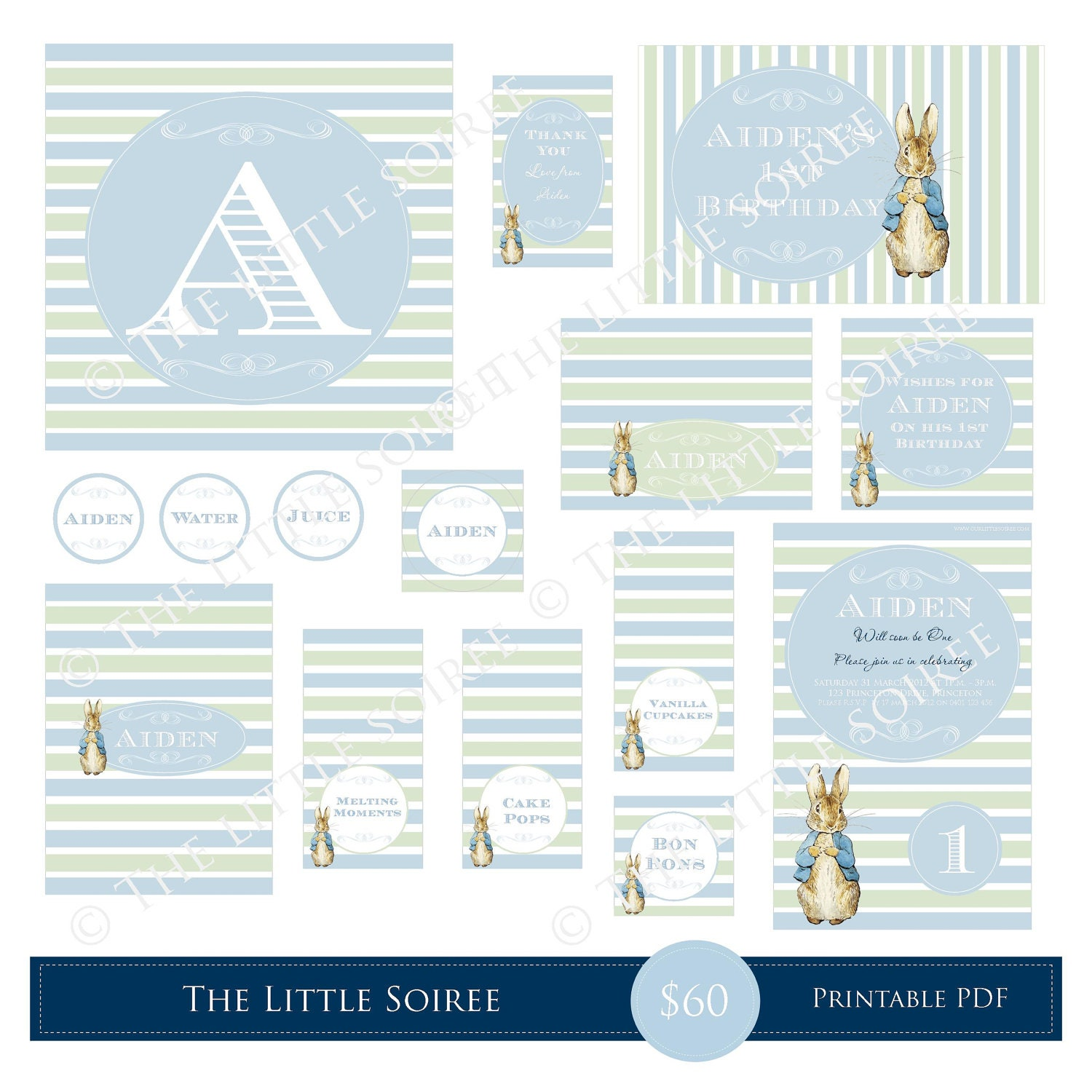 Peter Rabbit Printable Package