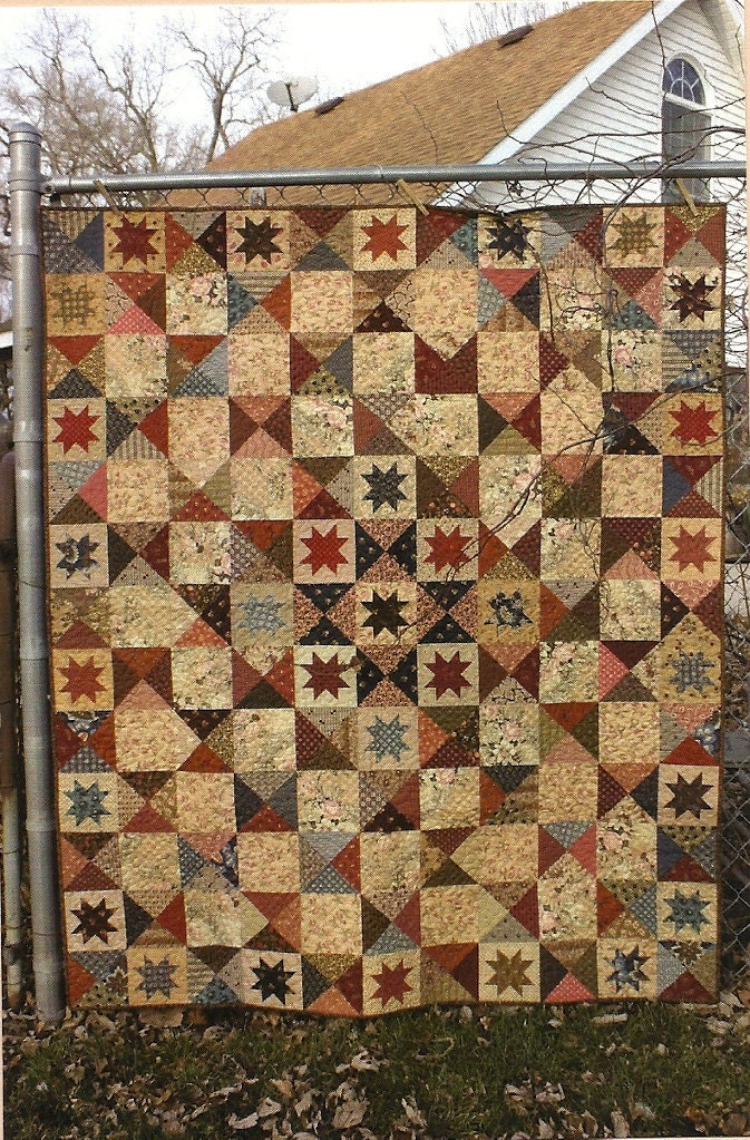 Primitive Folk Art Quilt Pattern: BATTLEFIELD by PrimFolkArtShop