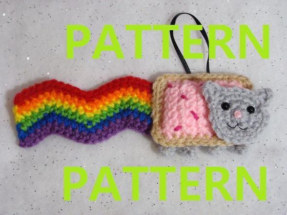 Nyan Cat Amigurumi Free Pattern : PDF CROCHET PATTERN Nyan Cat Ornament by yummypancake on Etsy