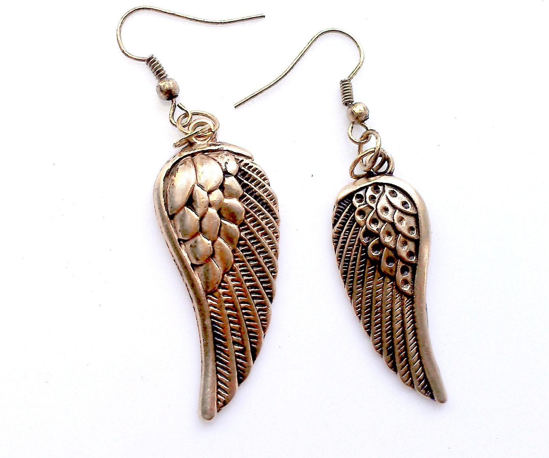 Teen Girl Jewelry Wing Earrings Teen Girl Gift Metal Dangle Angel Wings
