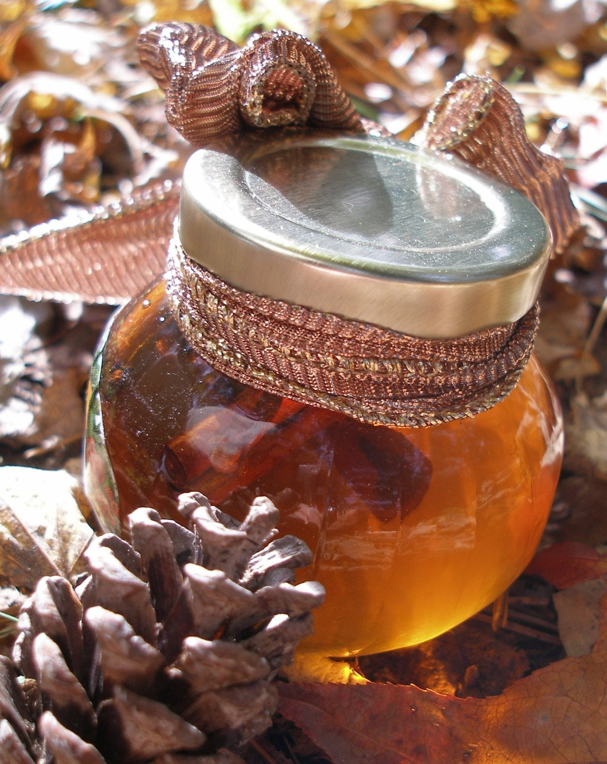 RAW Orange Honey Infused with Cinnamon and Cloves