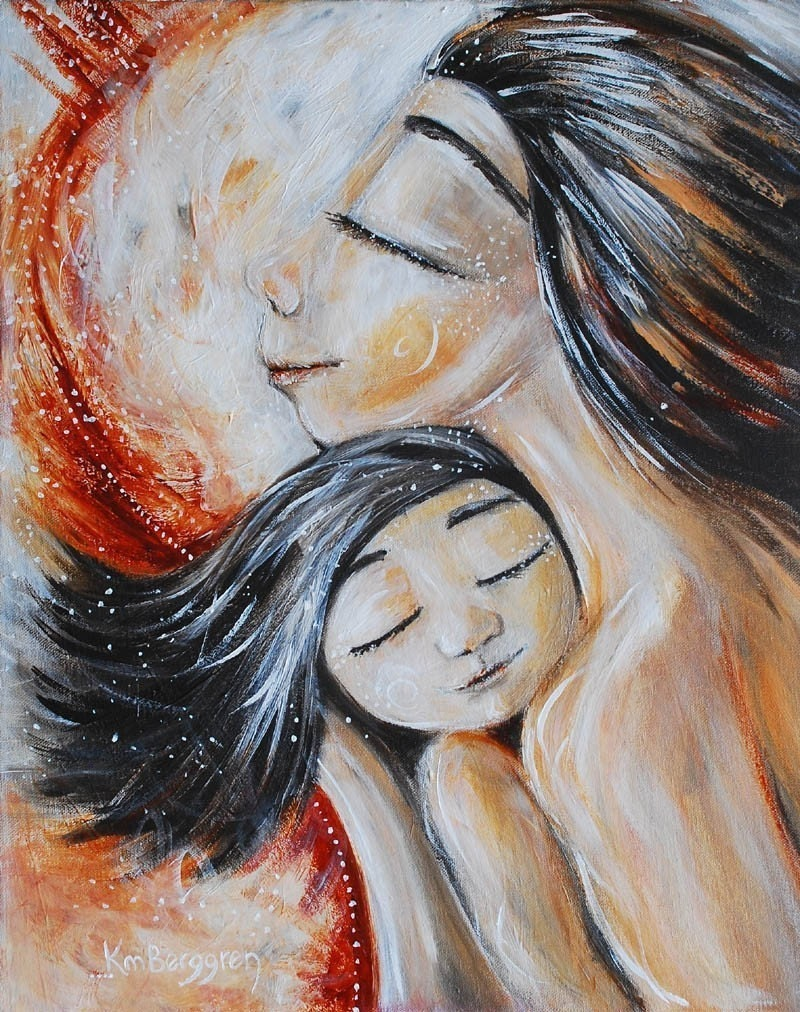 Keep - Archival 8x10 signed motherhood print from an acrylic painting by Katie m. Berggren