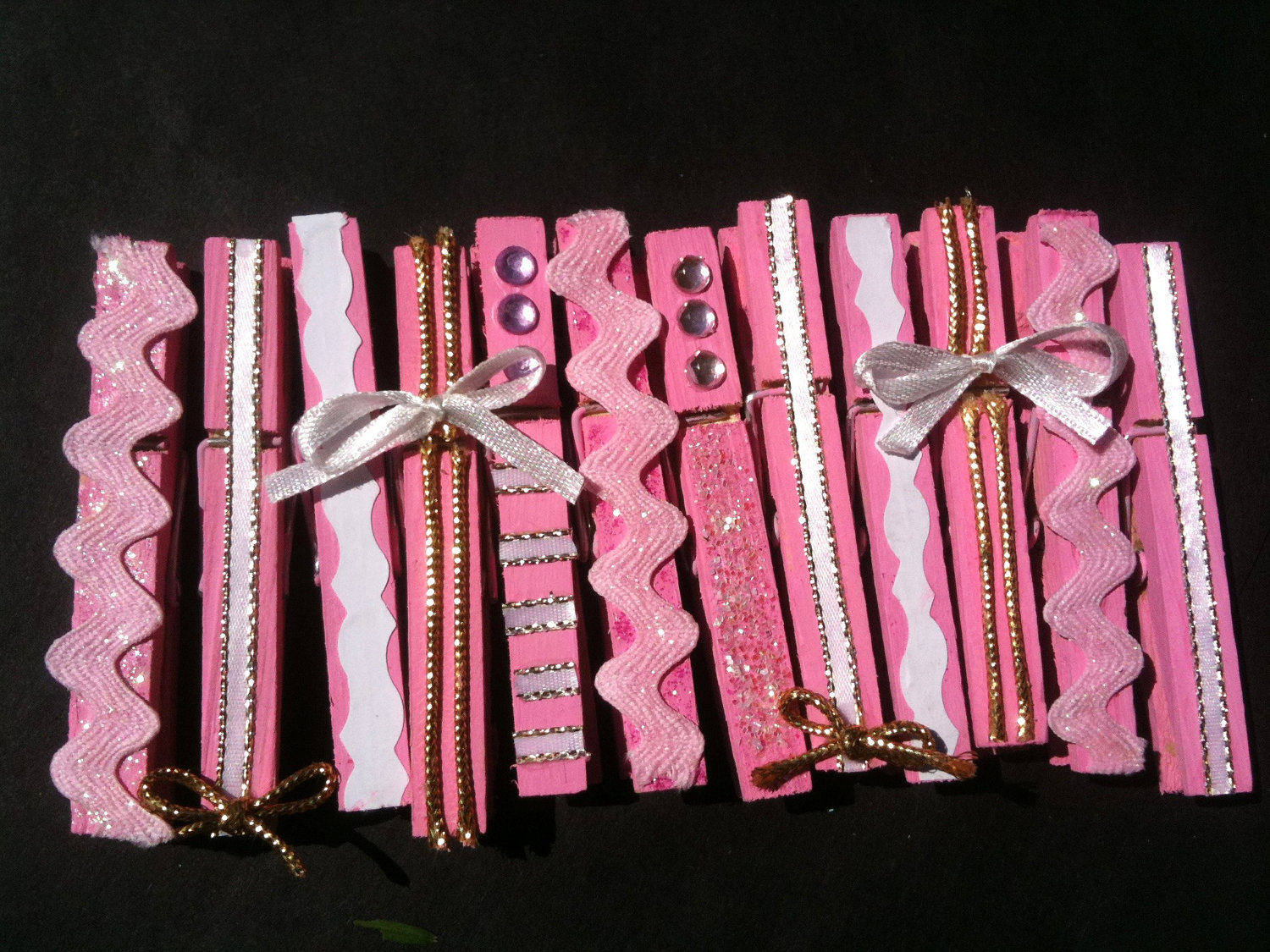pink girl baby shower wooden clothespins set of by daisycelebrates