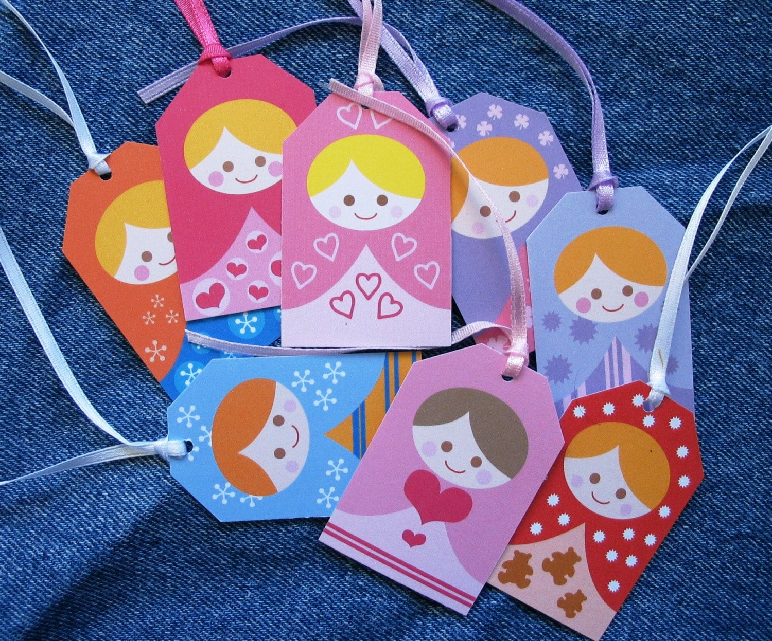 Little Matryoshka gift tags-buy 10 get 3 free