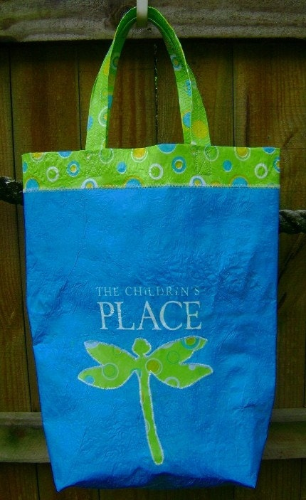 The Children's Place Tote made by fusing plastic bags
