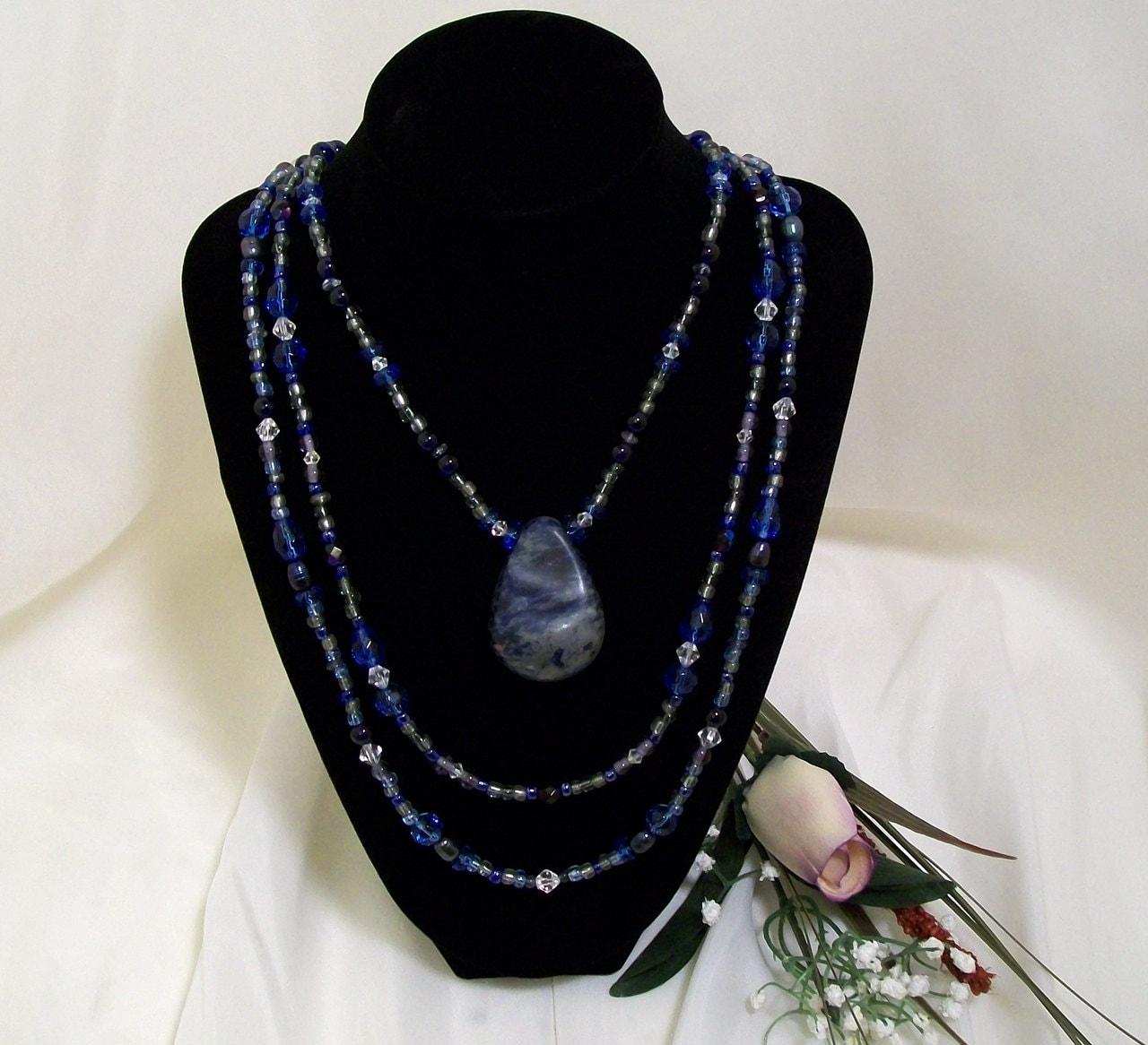 Sodalite Elemental Balance Tier Necklace