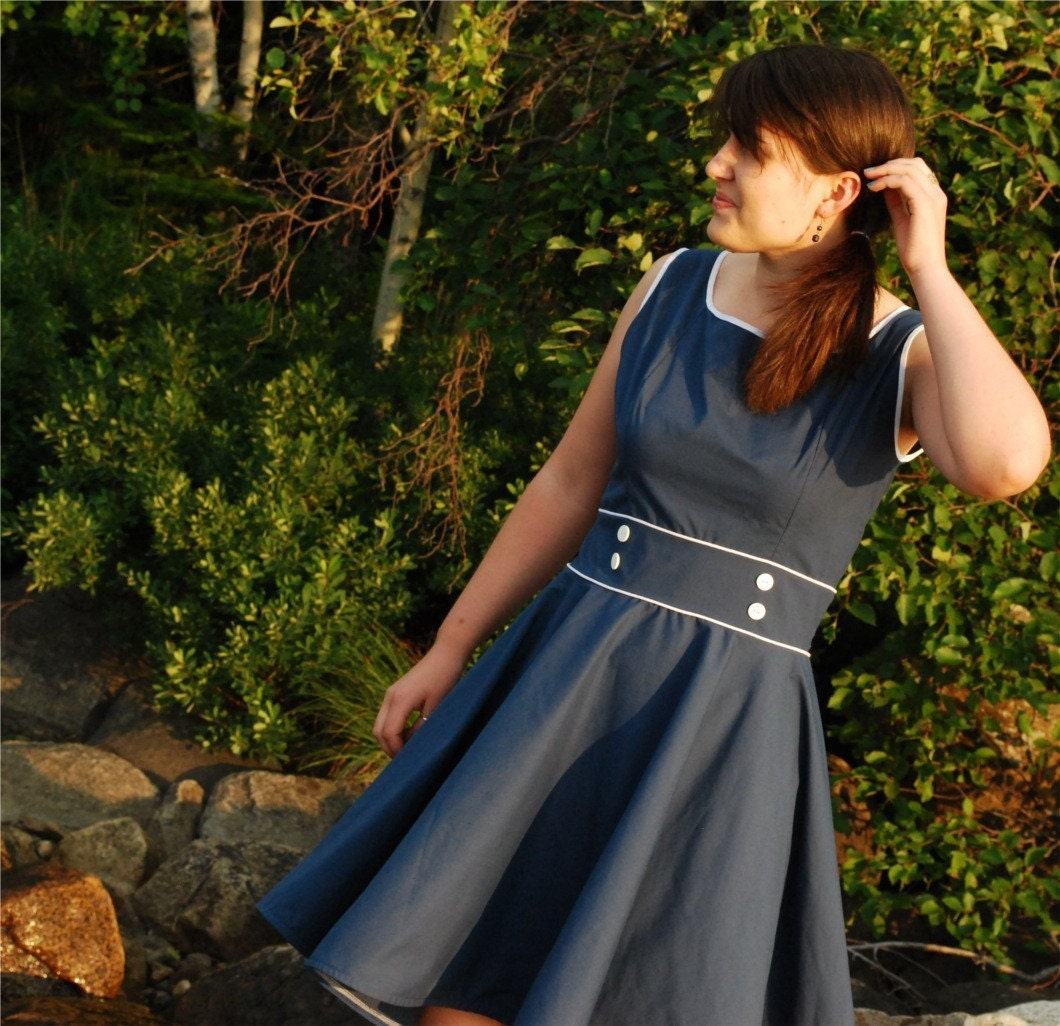 Sailor Girl Dress // Medium