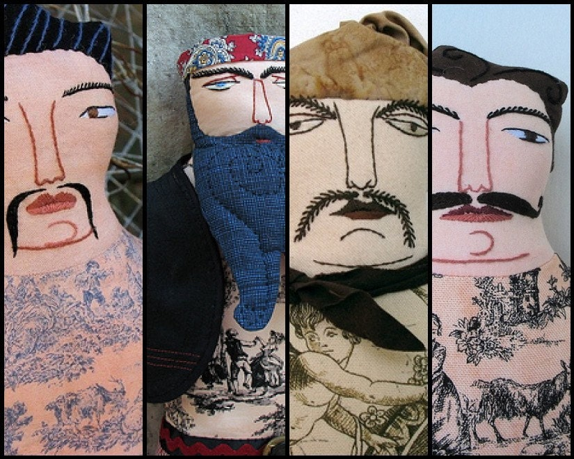 Tattoo Man Photo Magnet - Facial Hair, $7.50