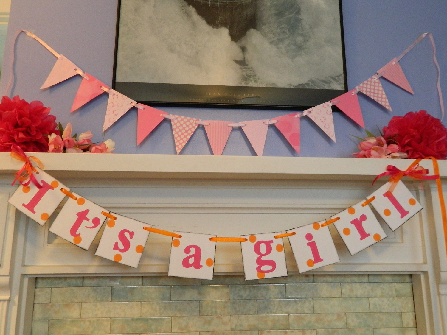 Popular items for baby girl garland on Etsy