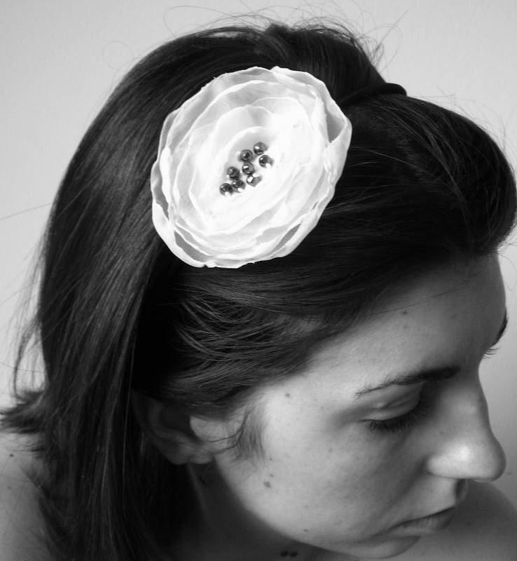 Purple Organza Flower Headband - FREE SHIPPING