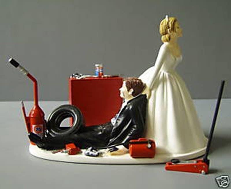 Auto Mechanic Wedding Cake Topper