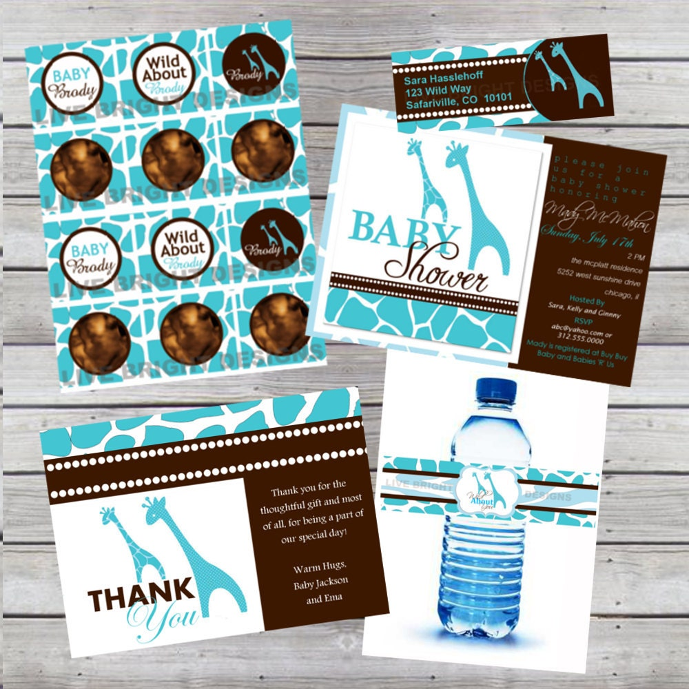 items similar to modern wild safari boy baby shower party package