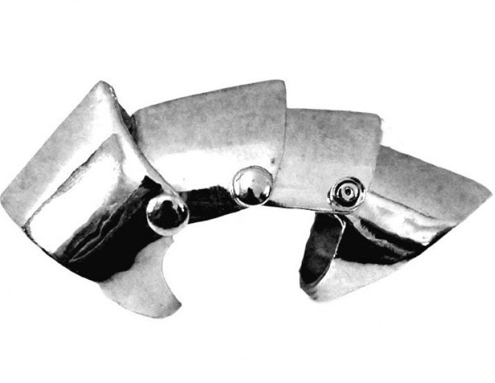 armor rings for men. Pewter Armor Full Finger Ring; full finger armor rings.