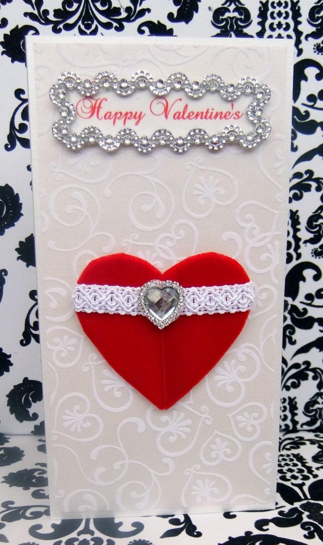 Happy Valentine's Personalised Card / Handmade Greeting Card